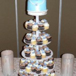 00 - Blue Hydrange cupcakes with a purse