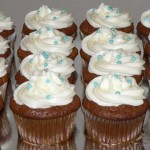 00 - Blue pearls cupcakes
