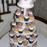00 h - Purple flowers cupcakes