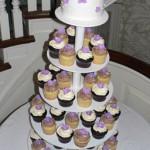 00 h - Purple flowers cupcakes