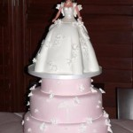 0006a - Ever After Barbie shower cake