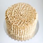 Vanilla flower ruffle cake