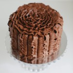 Ruffle chocolate cake
