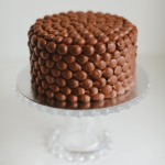 Pearl piped chocolate cake