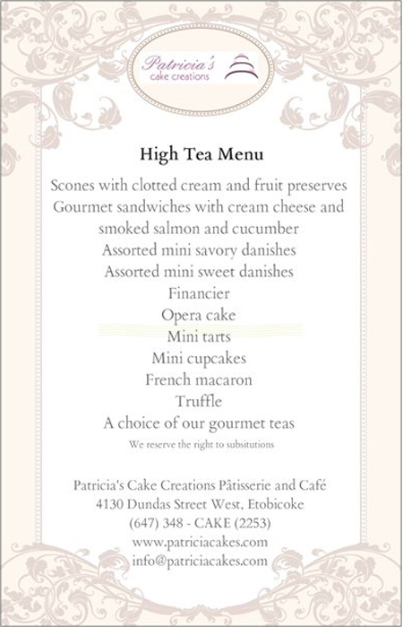 high tea menu enlarged